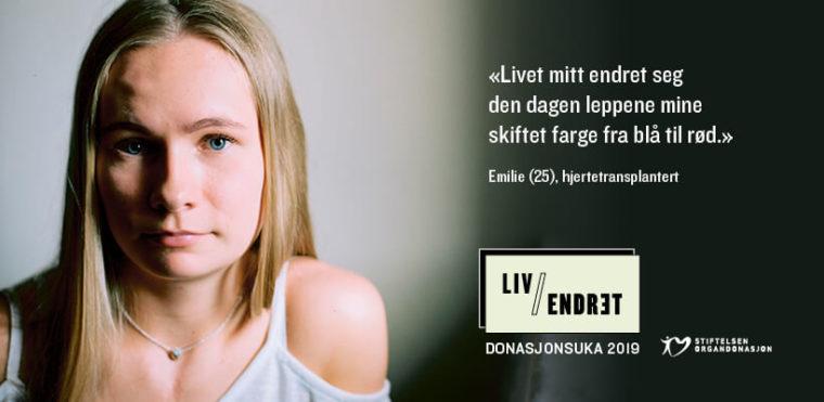 Emilie (25) fronter Donasjonsuka