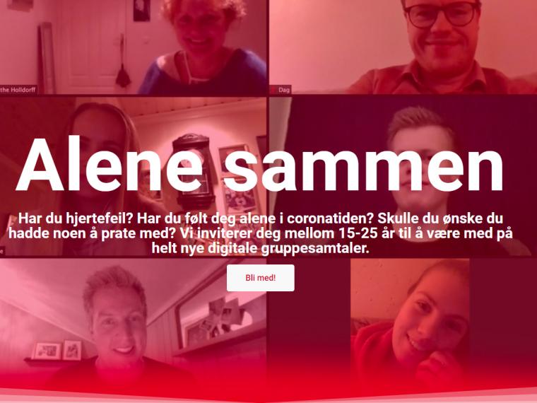 Alene sammen – digitale samtalegrupper for ungdom